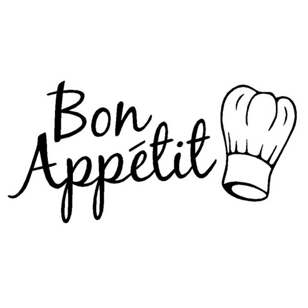 Pas Cher Mode Personnages Mots Restaurant Cuisine Autocollants Bon Appetit Stickers Muraux