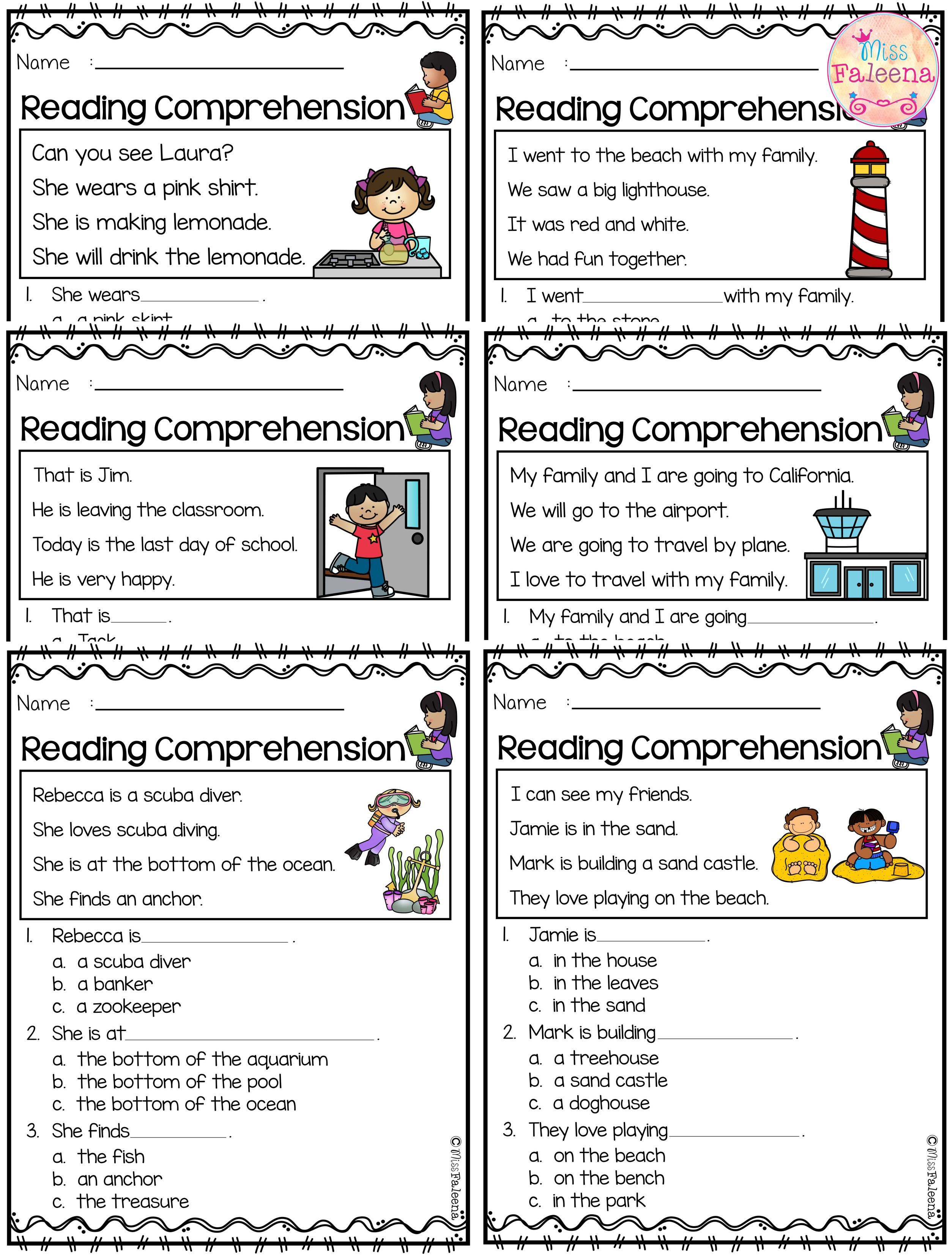 June Reading Comprehension Is Suitable For Kindergarten Students Or Beginning Readers Thi Reading Comprehension Comprehension Reading Comprehension Worksheets