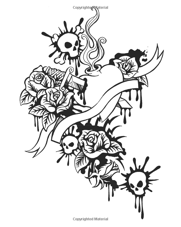 Ultimate Tattoo Coloring Book Chartwell Coloring Books Patience Coster 9780785833642 Amazon Com Tattoo Coloring Book Skull Coloring Pages Coloring Books