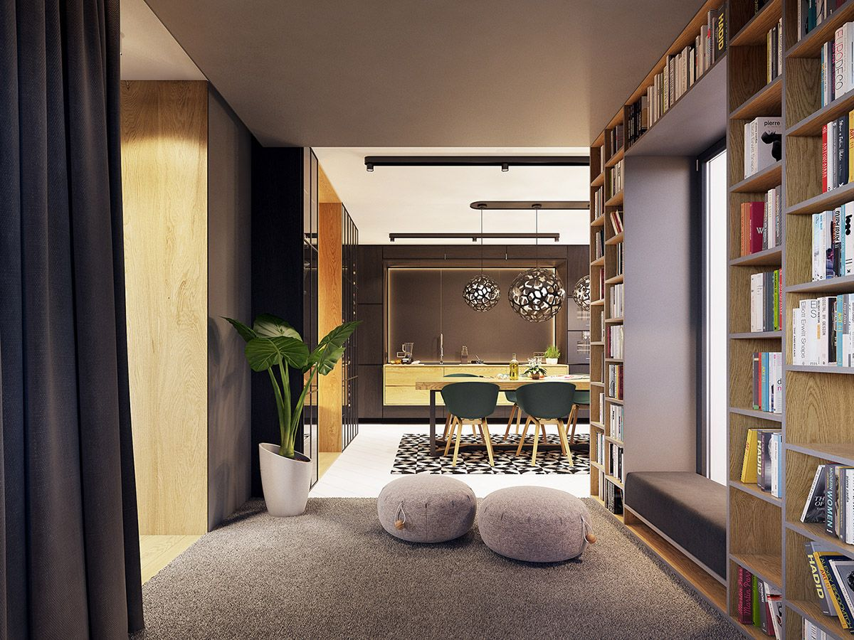 Feature Rich Decor In Family Friendly Apartment Interior Home