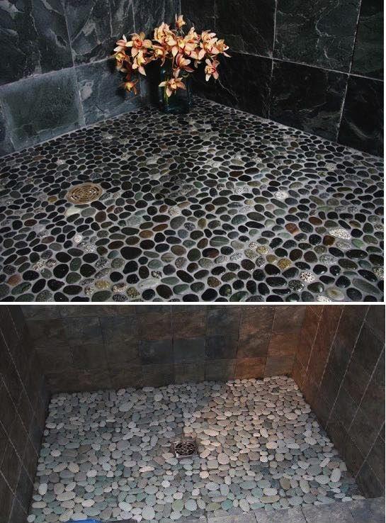 Okrúhle kamene sú skvelým materiálom na dekoráciu stien, chodníkov alebo podláh. Kamene nemusíte kupovať, ale môžete si ich postupne nazbierať. Načerpajte inšpirácie a vyrobte si...