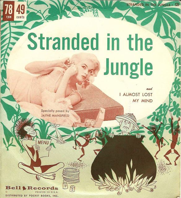 """Jimmy Leyden with Jimmy Carroll Orch. and chorus - Stranded In The Jungle (Bell Records 7"""", 1956)"""