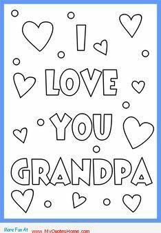 Grsndpa Xoxo Fathers Day Coloring Page Happy Birthday Grandpa