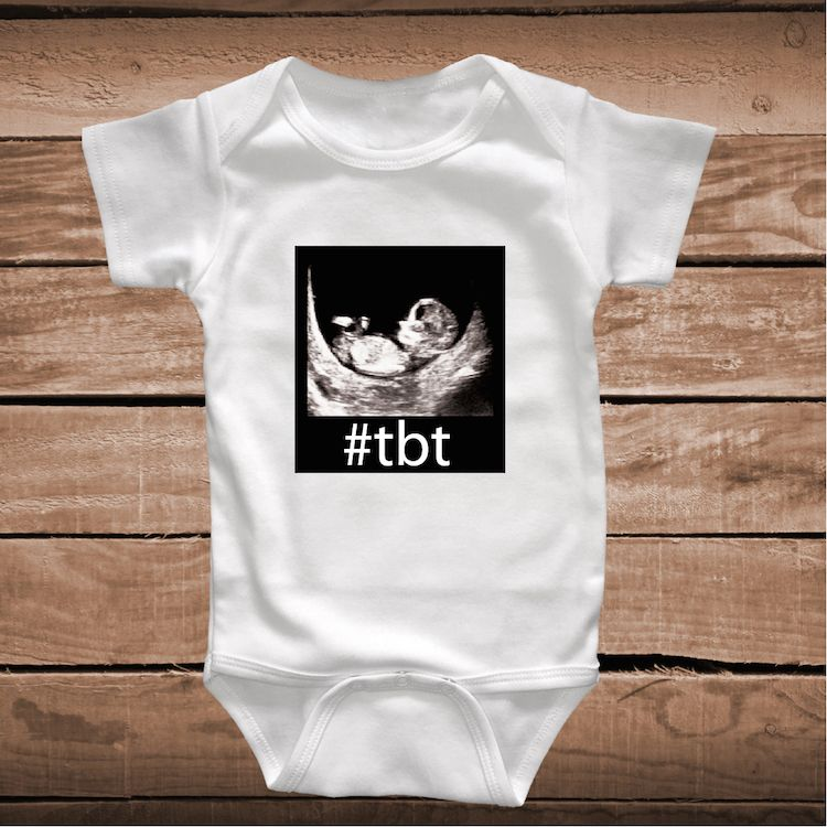 e93a63262 TBT Clever Baby Onesies, Bibs or Tees _ tbt funny Tees _ Toddler Crawlers _  Custom Baby Clothes _ Funny T-shirts for Kids _ Prime Decals