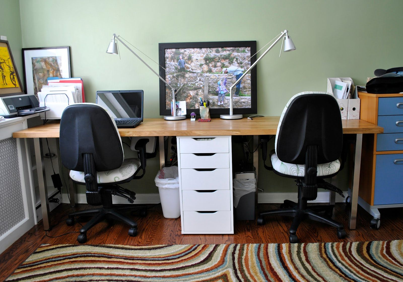 Forty Two Roads Hacking Ikea Double Desk Office Desk Designs Desk For Two