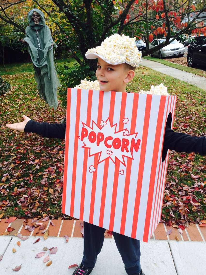1a681b6caeb A Night at the Movies - Popcorn costume | Halloween | Popcorn ...