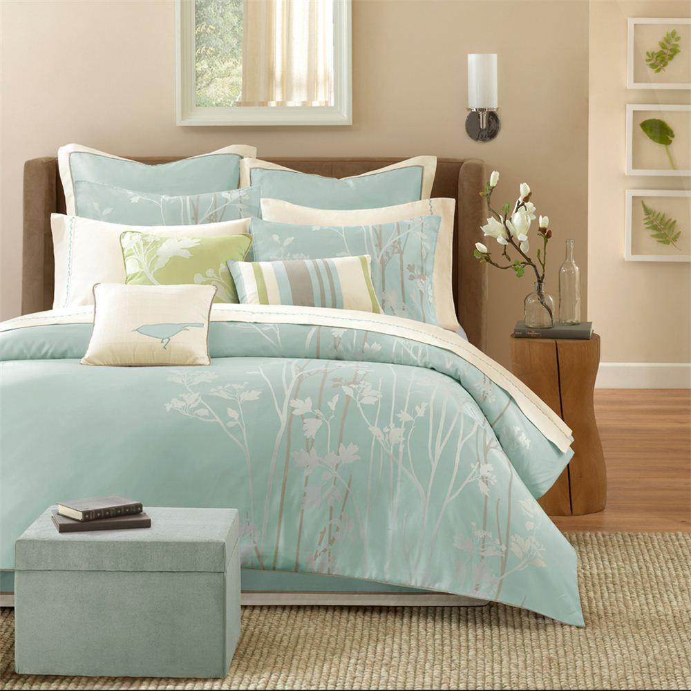 Elegant Madison Park Aurora 10 Piece Comforter Set With Ottoman