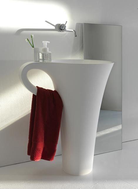 This sink has attitude!