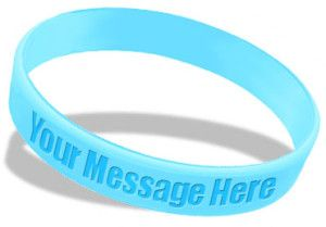 Custom Silicone Wristbands For Promotion Of Charitable Causes
