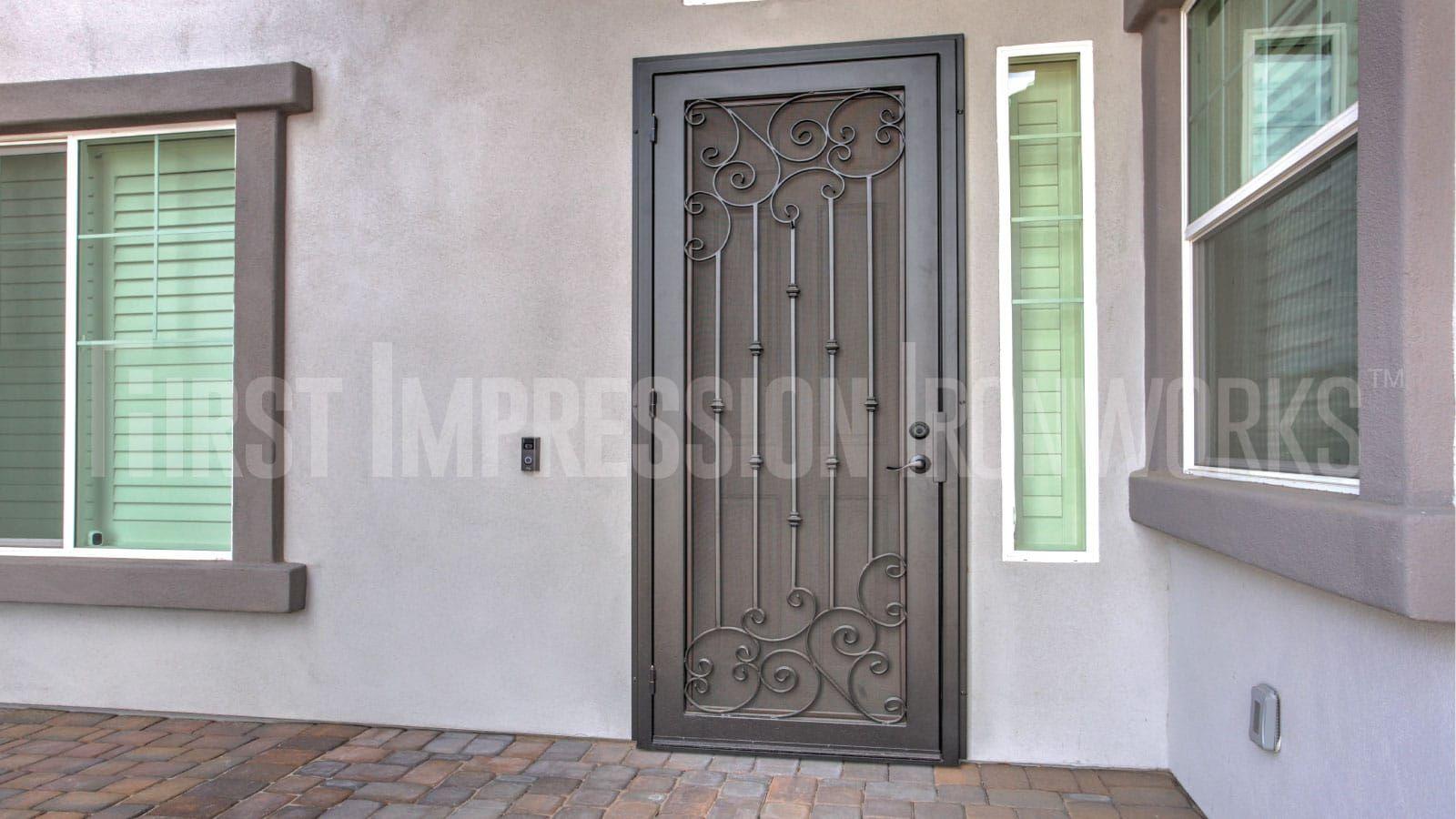 Gallery Iron Security Door Gate Designs First Impression Ironworks In 2020 Door Gate Design Gate Design Security Door