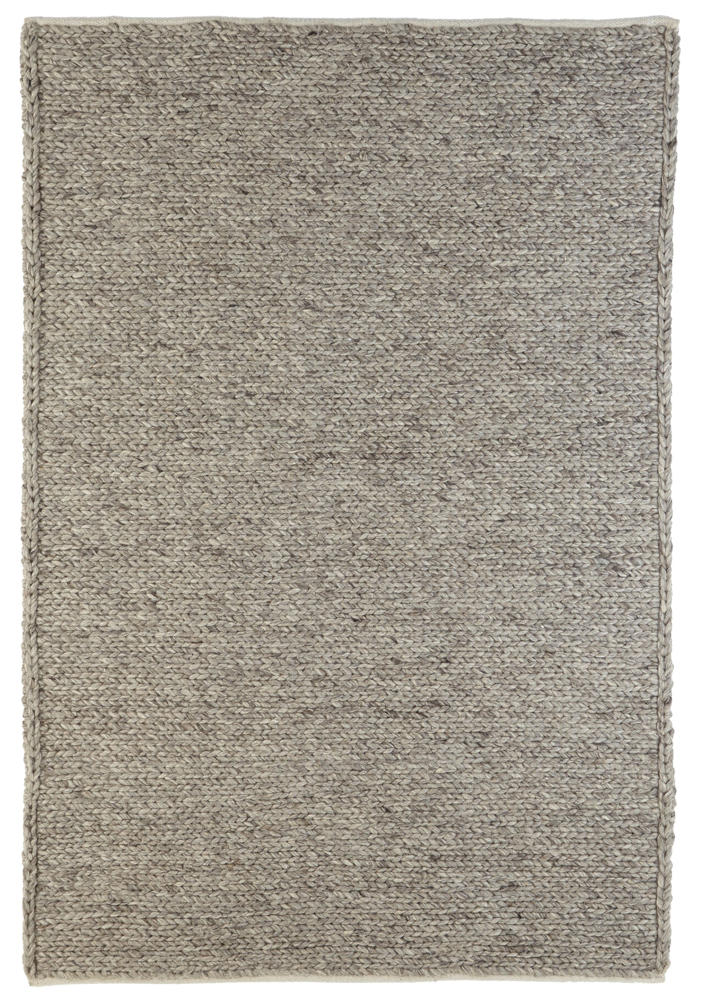 Colours Claudine Grey Thick Knit Rug L 2 3m W 1 6 M