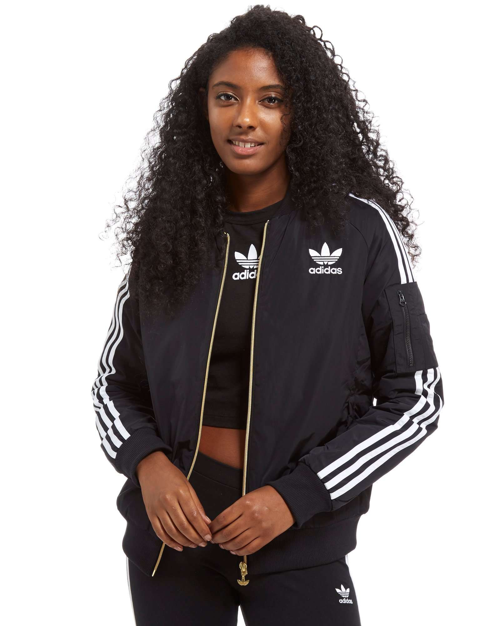 Black adidas jacket womens jd