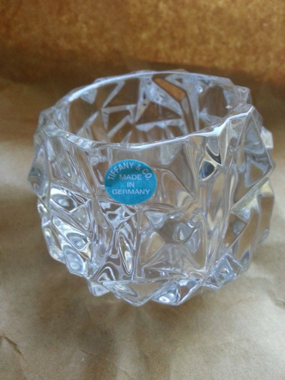 70b805ce300d Beautiful Tiffany   Co Crystal Rock Cut Votive Candle by 007ALVAGE