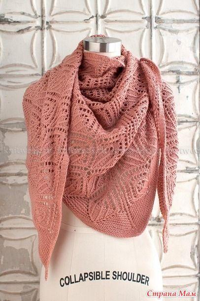 вязание шалей платков палантинов