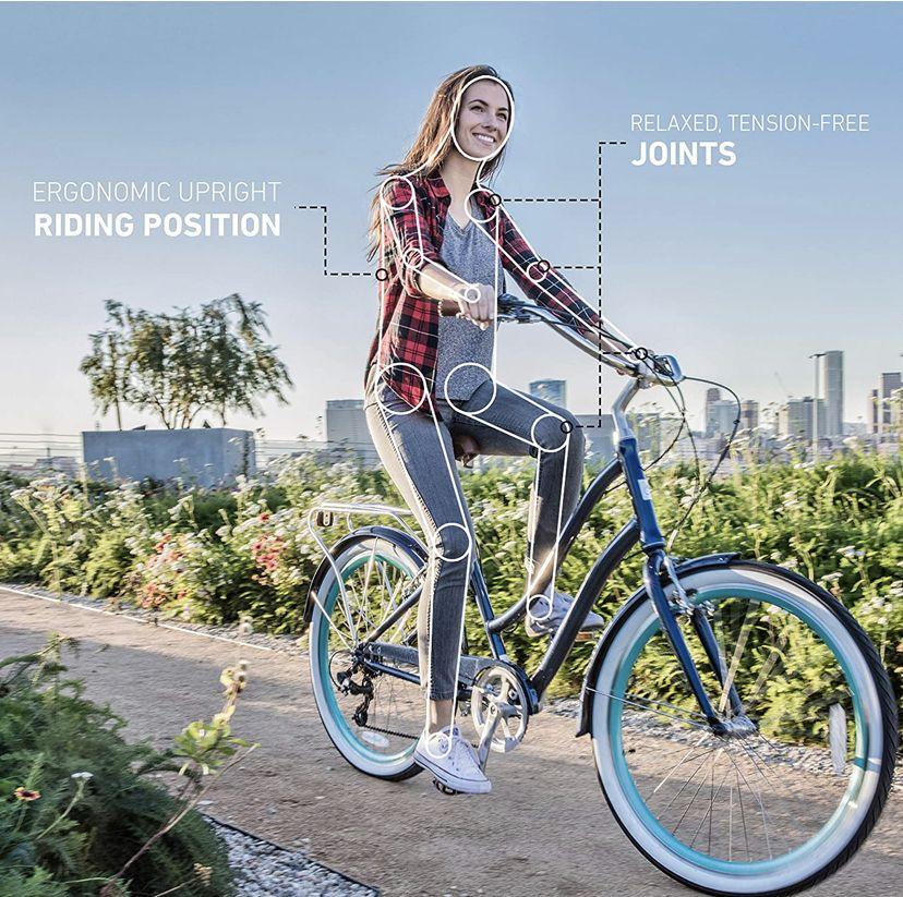 Amazon Com Huffy Panama Jack Beach Cruiser Bike Sports Outdoors Beach Cruiser Bikes Beach Cruiser Bicycle Cruiser Bike