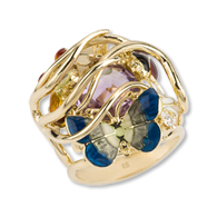Roberto Bravo: Noah's Ark #NR0019-00 - Gold, Dia, Color sapphire, Amethyst, Enamel
