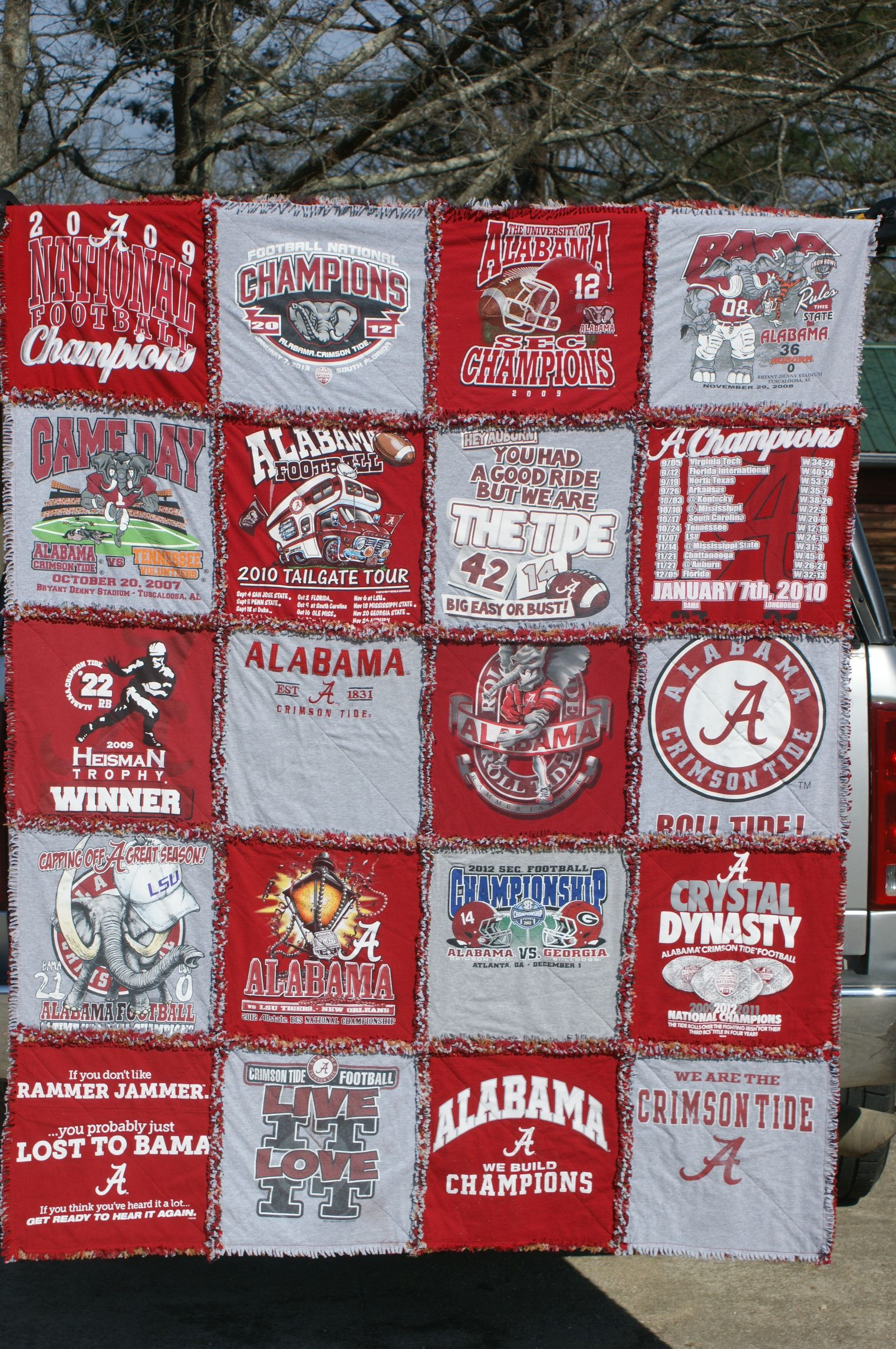 Tshirt rag quilt made from University of Alabama tshirts. | T ... : rag quilting made easy - Adamdwight.com