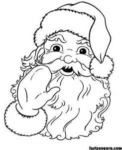 Christmas Printable Santa Claus Face Cola Coloring Pages