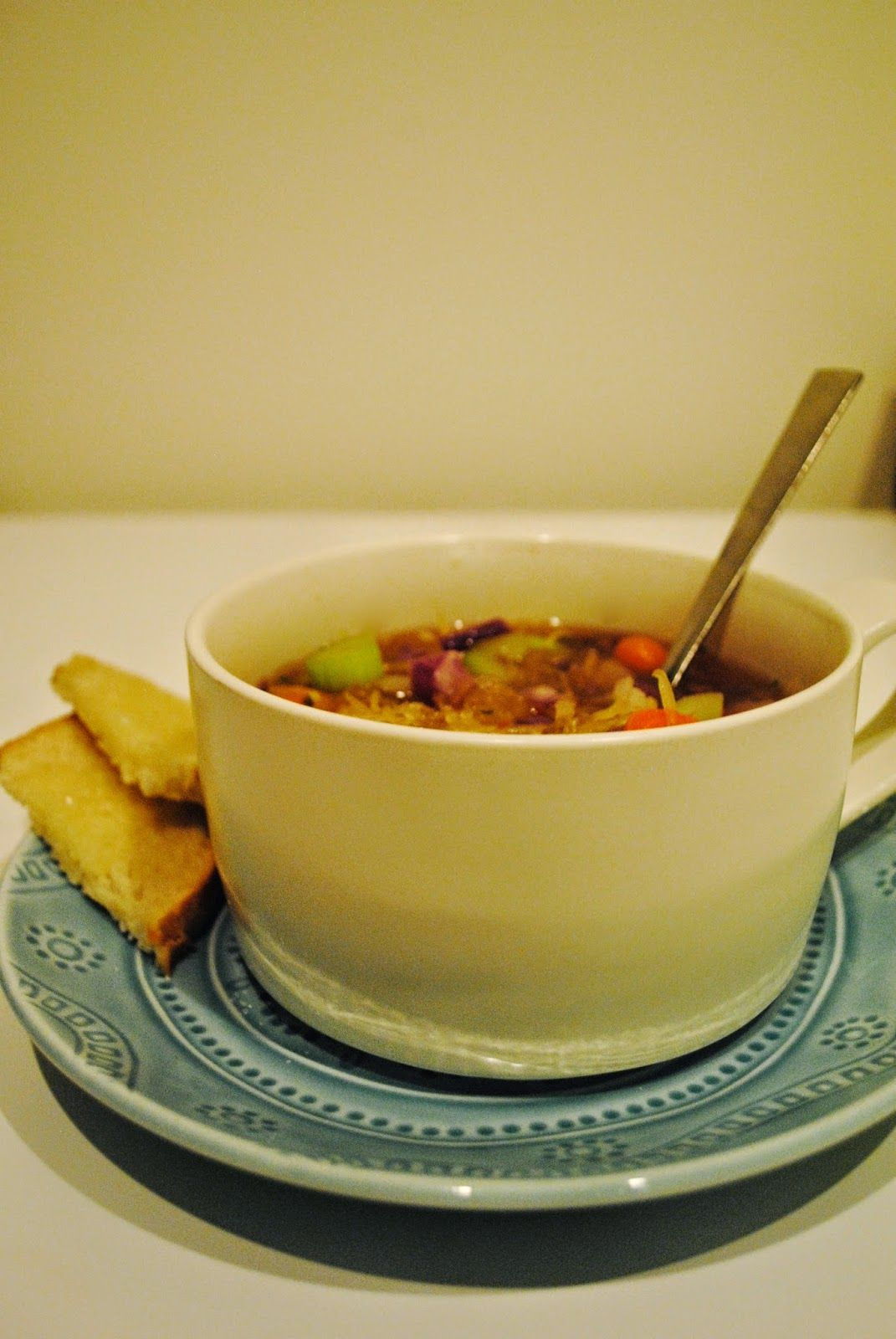 Cooking for One: Vegetable Spaghetti Squash Soup