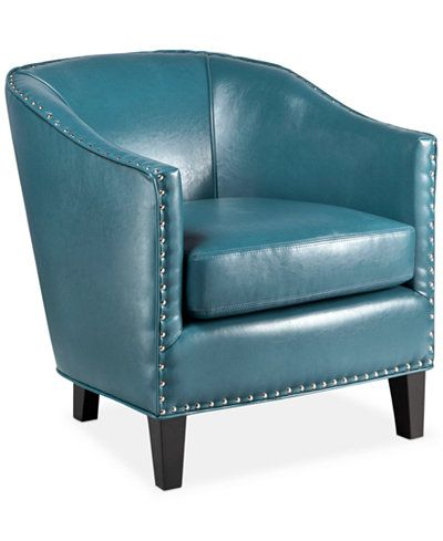 Best Lawson Faux Leather Accent Chair Blue Accent Chairs 400 x 300