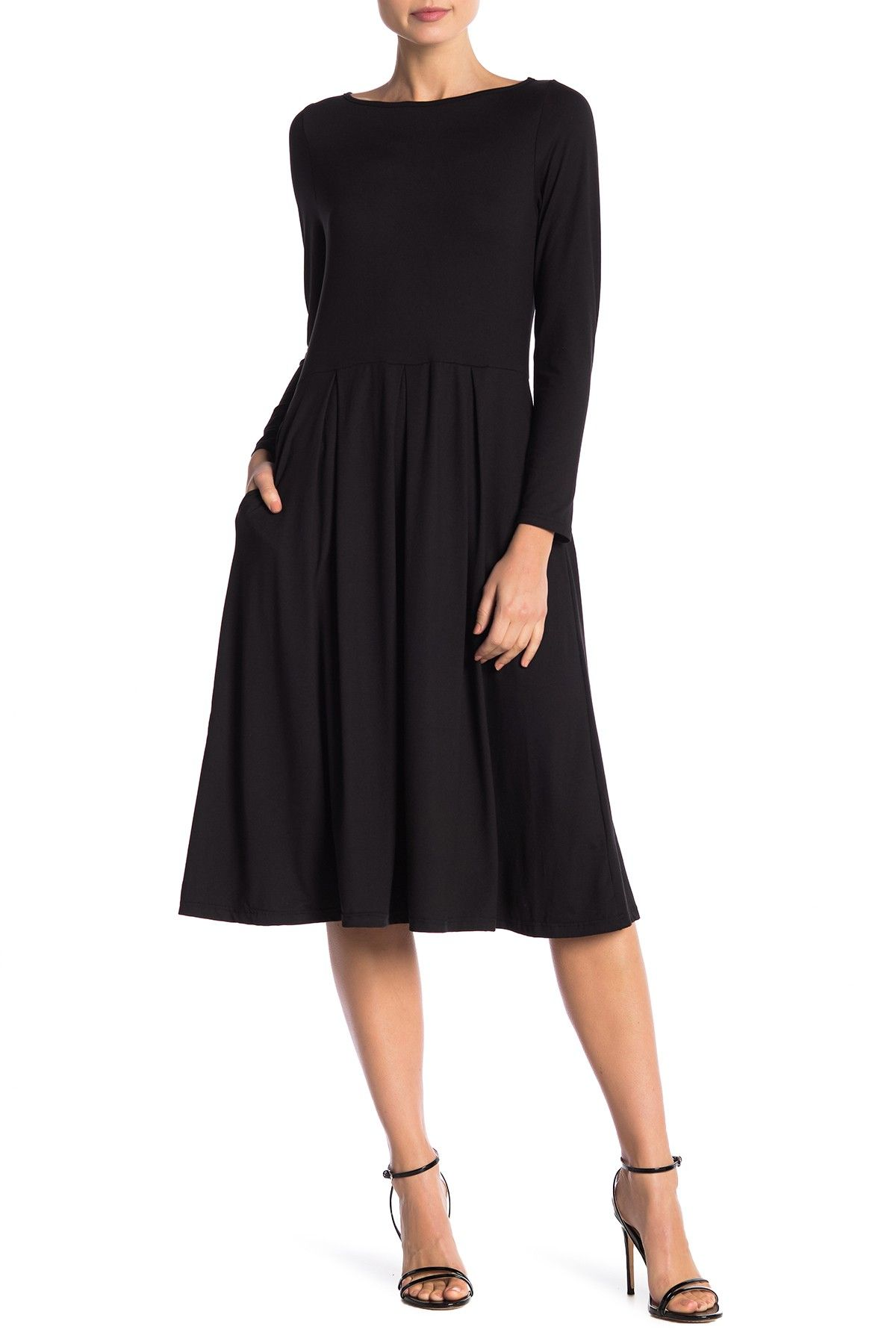 24 7 Comfort Long Sleeve Fit And Flare Midi Dress Nordstrom Rack Midi Dress Plus Size Nordstrom Dresses Fashion [ 1800 x 1200 Pixel ]