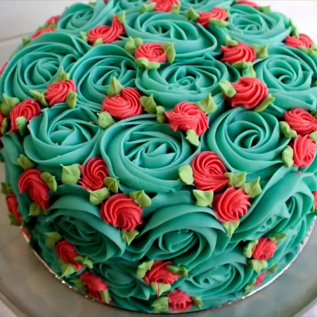 ROSETTE CAKE  #cakedecoratingvideos