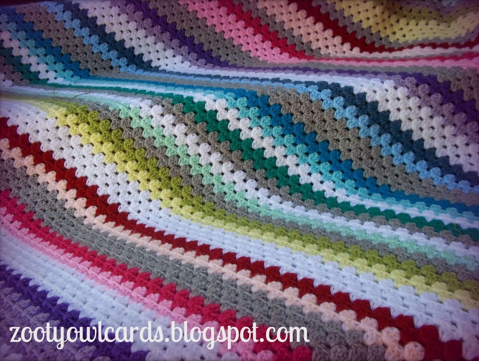 diagonal granny stripe | crochet projects | Pinterest
