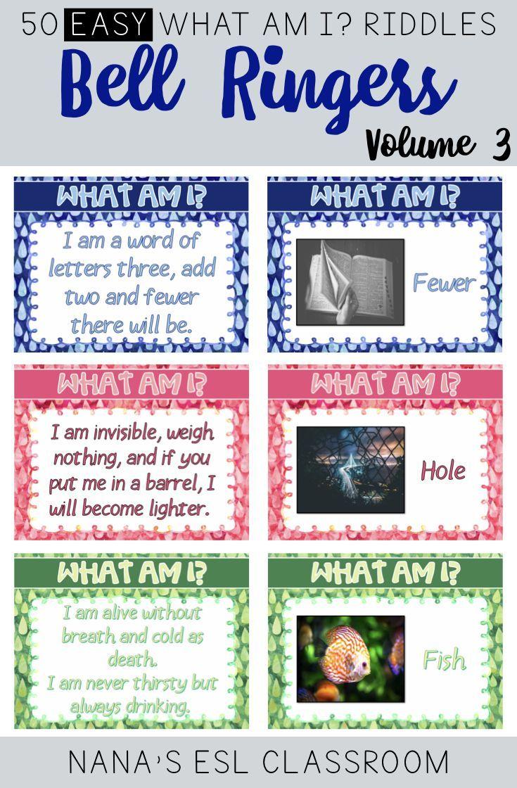 Bell Ringers Brain Teasers Easy Riddles for Teens Volume 3