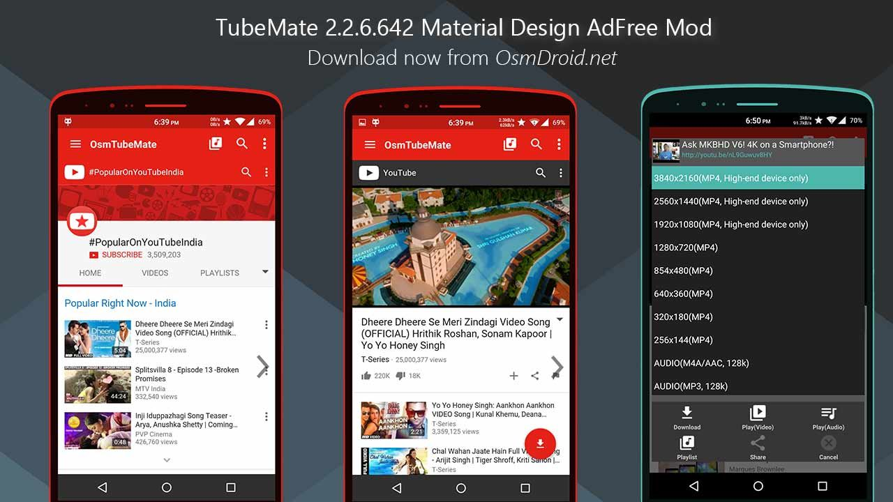 Tubemate Android Mod Mod Apk Free Download Download Tubemate Youtube