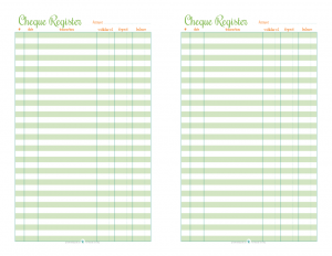 free printable check ledger
