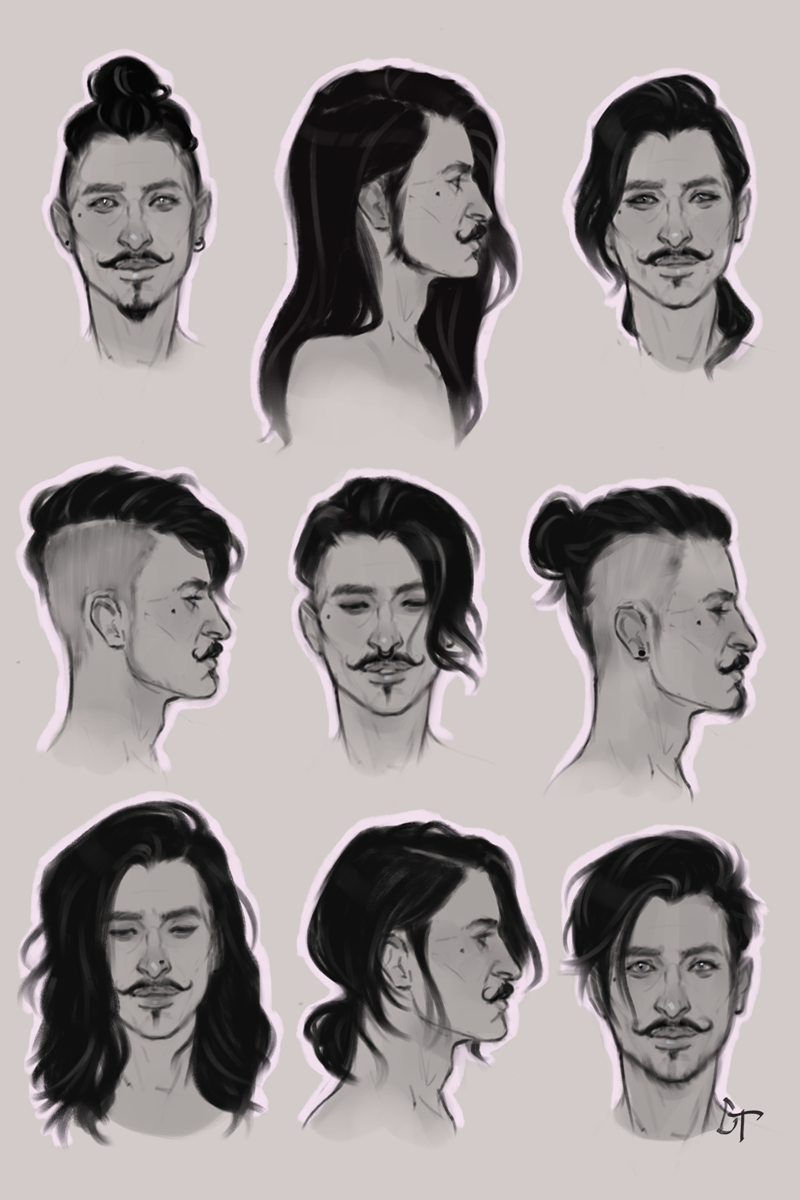 Practicing Different Hairstyles With This Beautiful Bastard Dorian