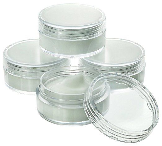 Estilo Estilo Clear Plastic Jars Cosmetic Containers With Lids 10 Gram 25 Count Cosmetic Containers Plastic Jars Plastic Jars With Lids