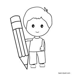 black and white boy holding a pencil clip art clip art pencil clipart free clip art boy holding a pencil clip art