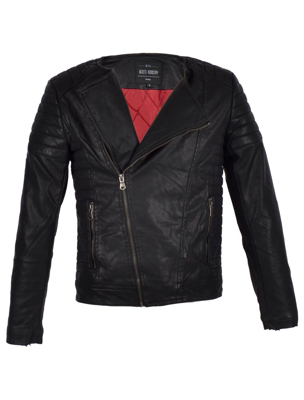 Deze mooie #zwarte #biker #jackvan #Imitatie leer is een Must have voor in je #kledingkast! Ondanks de Scherpe prijs doet deze zwarte, nep leren, biker jack voor #herennauwelijks onder van echt leer.