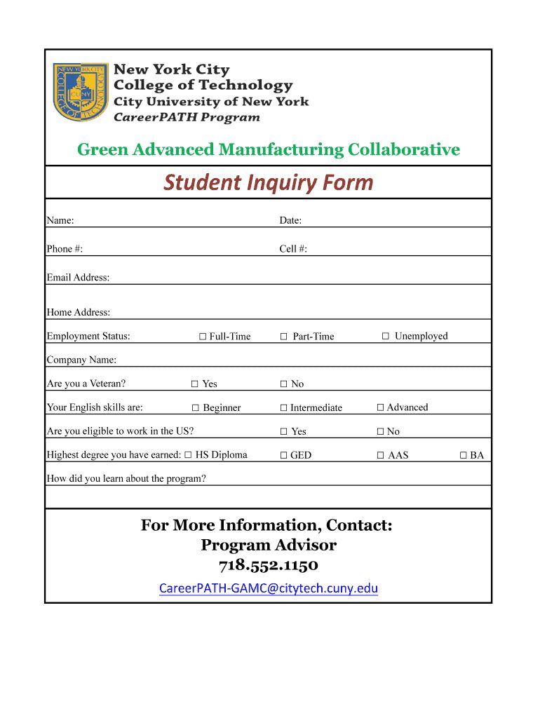 Enquiry Form Format Fill Online, Printable, Fillable