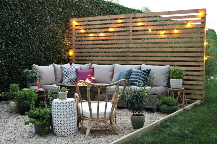 diy panneau bois ext rieur d tourner en brise vue pour. Black Bedroom Furniture Sets. Home Design Ideas