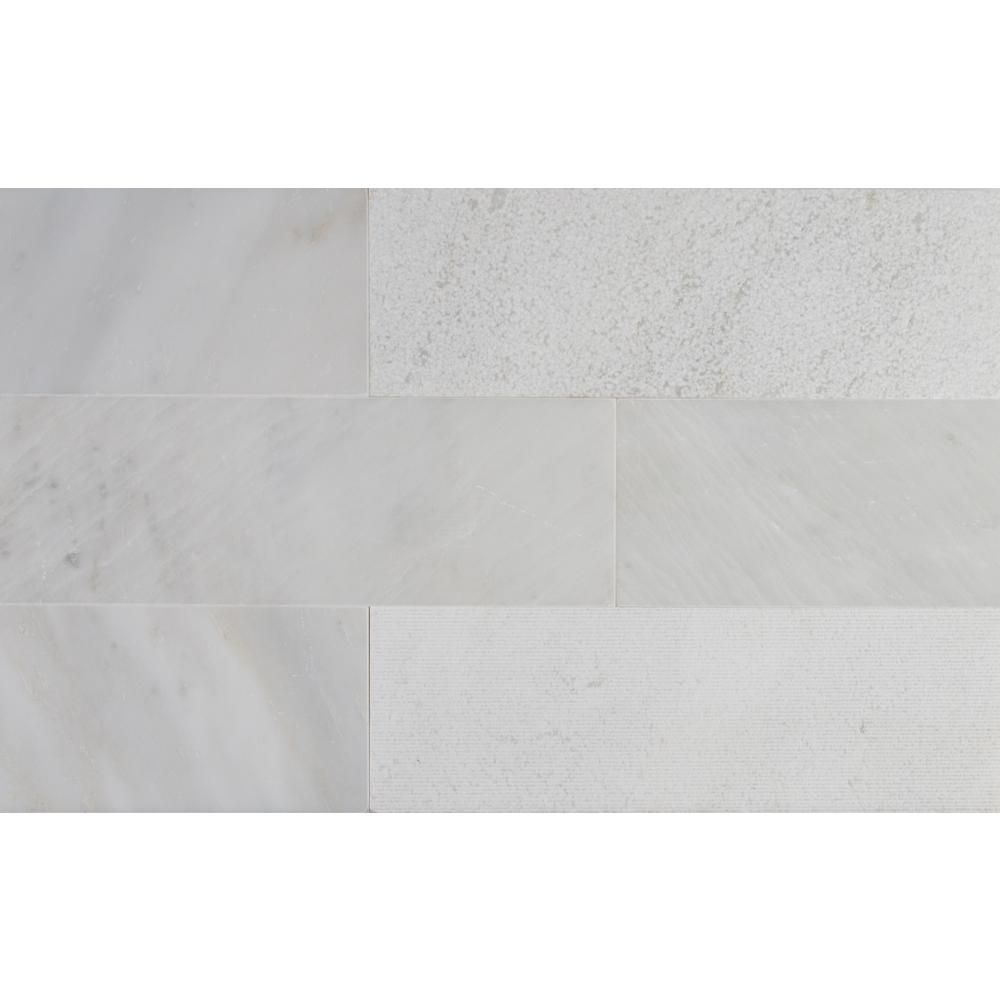 Msi Greecian White 4 In X 12 In Multi Finish Marble Floor And Wall Tile 2 Sq Ft Case Tgrewh412mf Marble Subway Tiles Wall Tiles Tiles