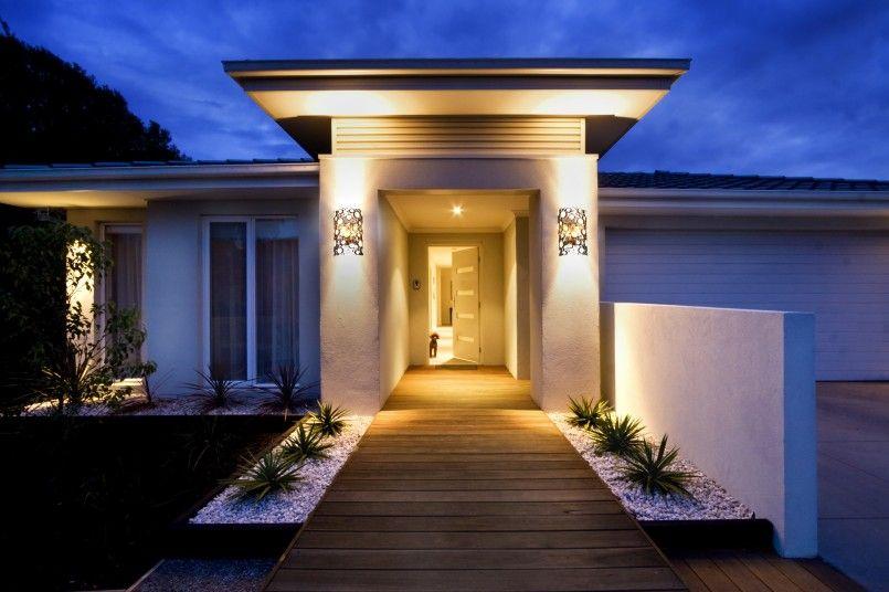 Exterior Lighting Ideas For Modern House Design Entrance