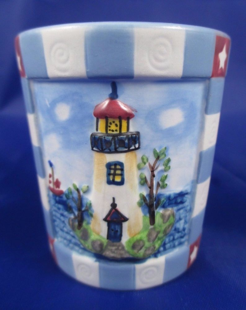 Details about yankee candle votive ceramic holder lighthouse