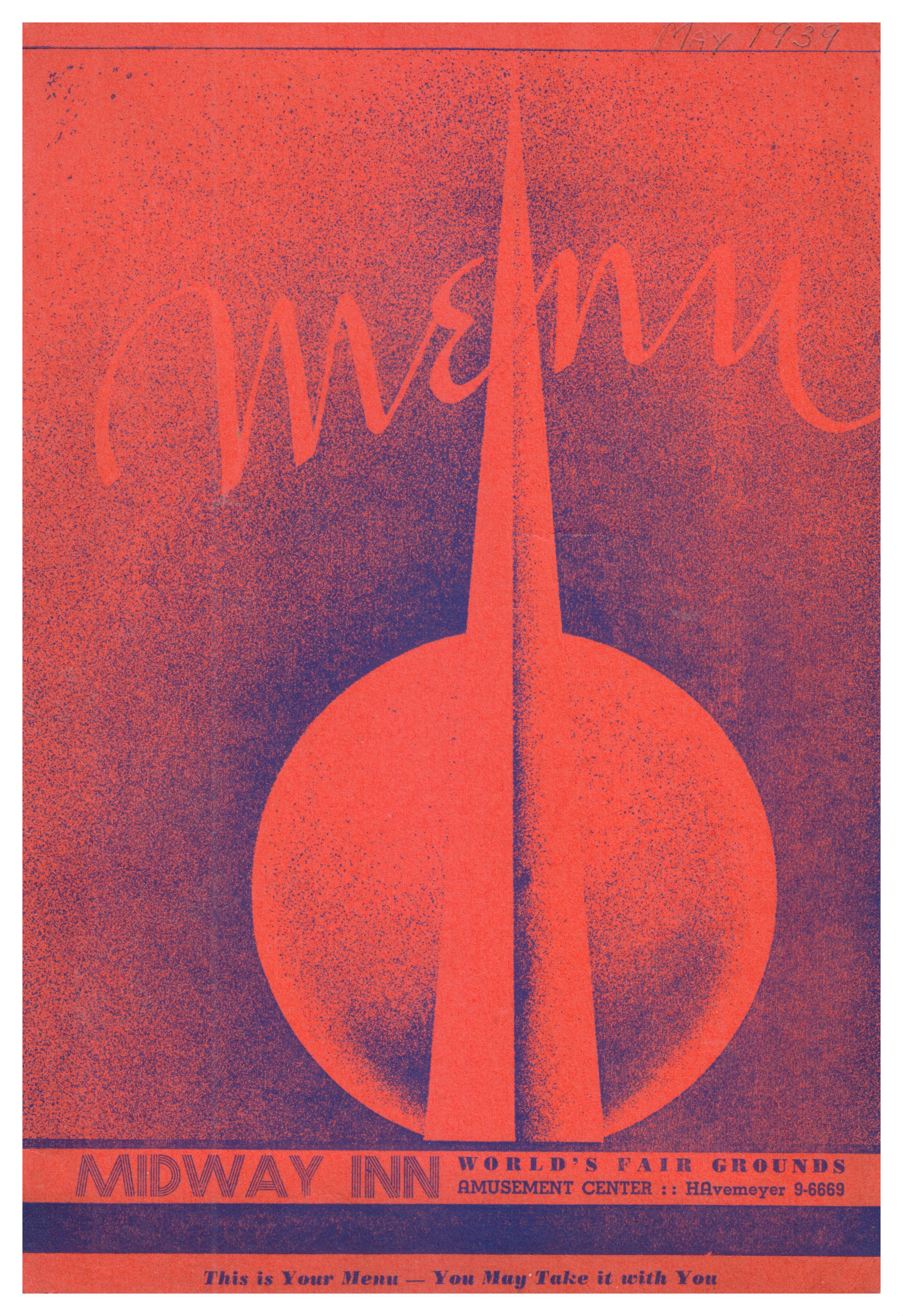 1939 New York World's Fair Menu, Midway Inn