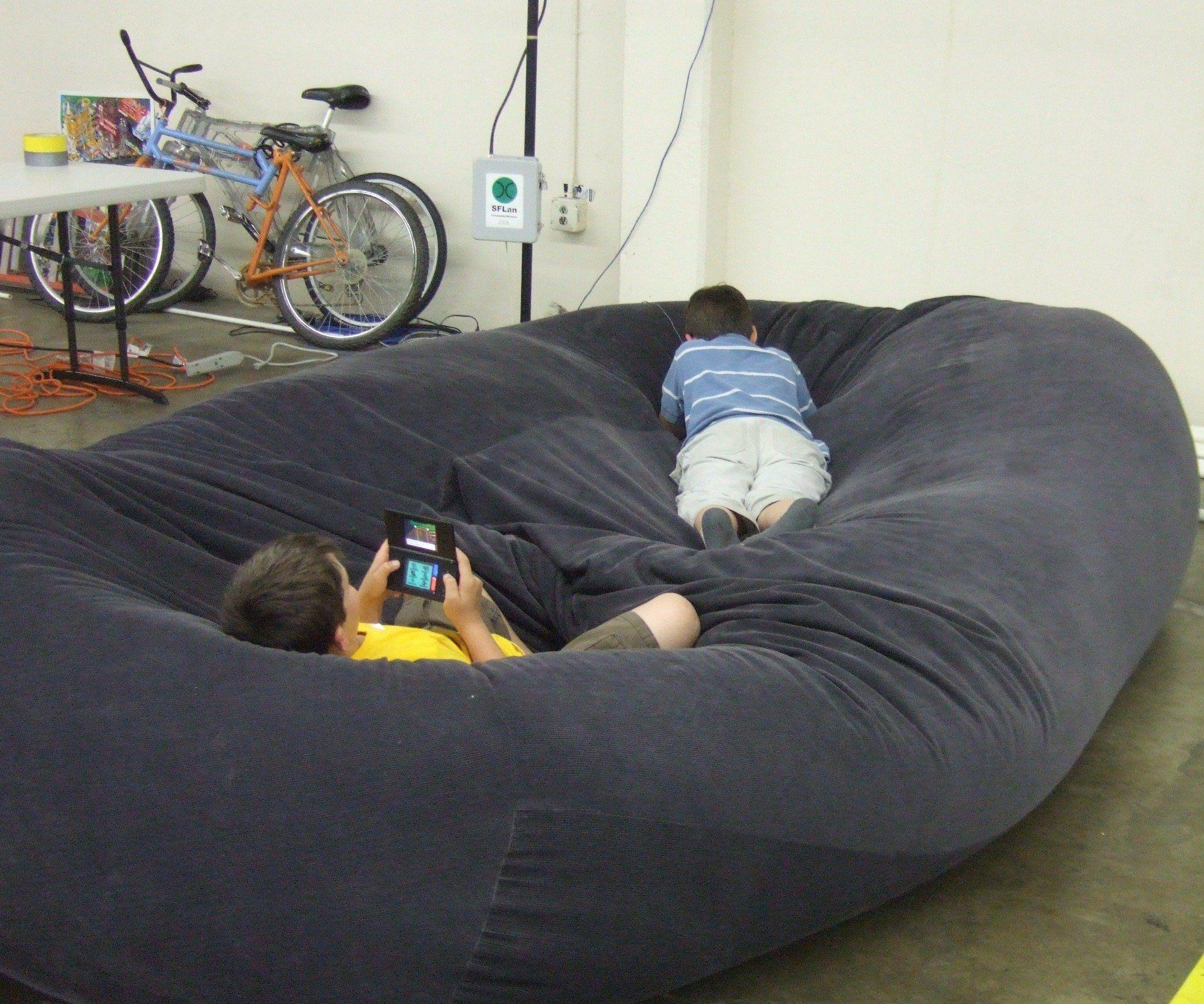 Bean Bag Sofa / Bed Bean bag sofa, Bean bag chair, Diy