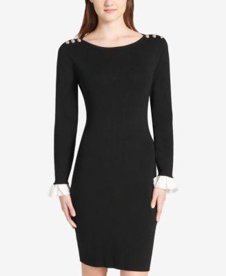 a55c858ae0c Tommy Hilfiger Embellished Sweater Dress - Black S