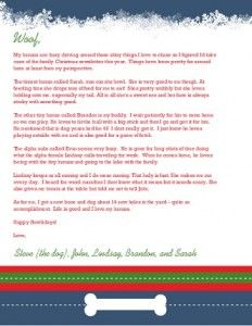 Christmas Letter Ideas From The Dog Christmas Letter  Games Get