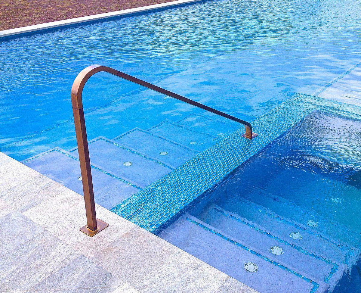 Pool Railings - Padilla Designs | mikvah in 2019 | Pool ...