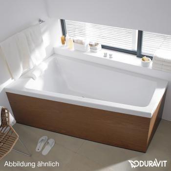 Duravit Paiova bath, left corner, frame for panelling Carrelage