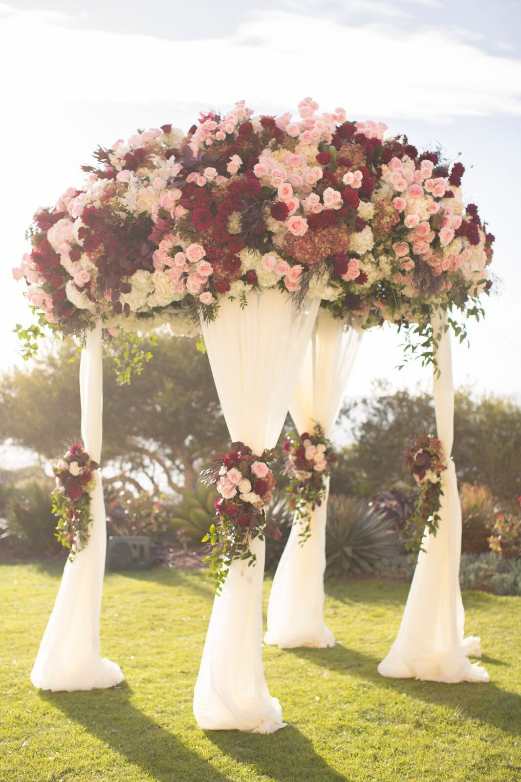 Breathtaking Red and Pink California Wedding Overlooking ...