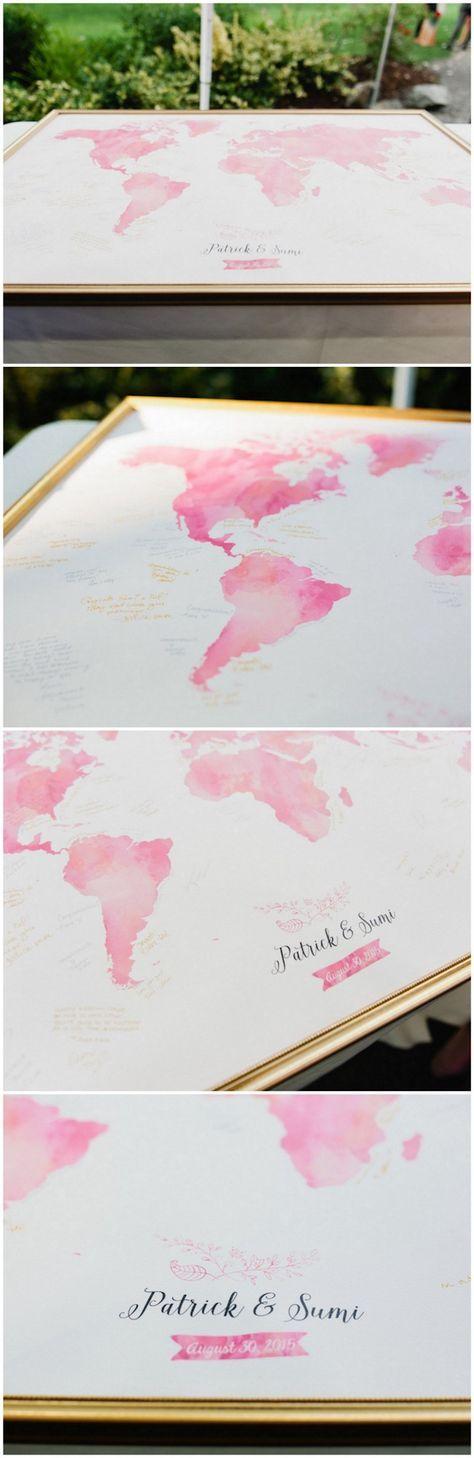 10 gorgeous wedding map guest book alternatives gumiabroncs Images