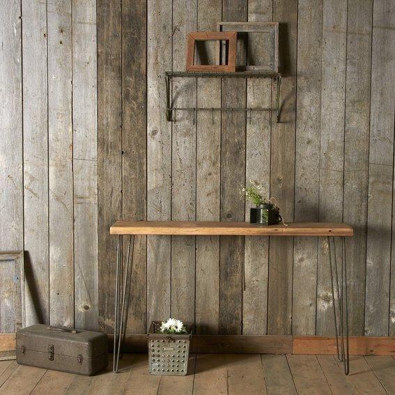 custom urban loft desk made from reclaimed wood office desk