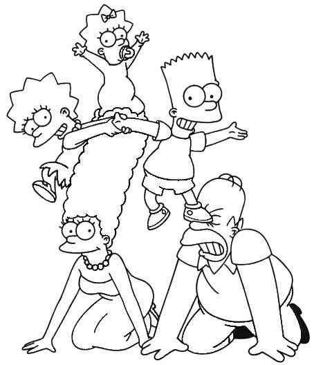 Die Simpsons 50 Ausmalbilder Simpsons Drawings Simpsons Art Cartoon Coloring Pages