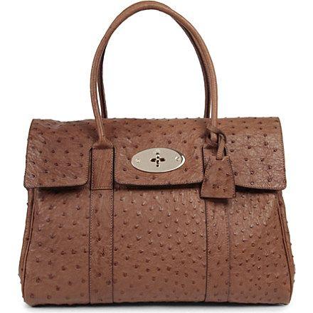 MULBERRY - Bayswater ostrich leather handbag | Selfridges.com